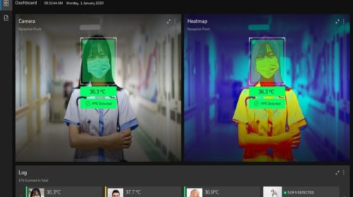 AI thermal imager detects elevated body temperature